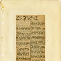Image of .40  Newspaper Article in Three Clippings   (1943)