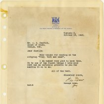 Image of .41  Letter From Office of the Prime Minister   October 19, 1943