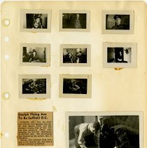 Image of .46 front   Nine Photos and Newspaper Article in One Clipping   (1943)