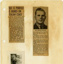 Image of .48 front  One Photo and One Newspaper Articles in Two Clippings   (194