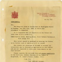 Image of .8 Letter From Central Chancery of the Orders of Knighthood   1943