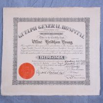 Image of 2012.117.535 - Diploma