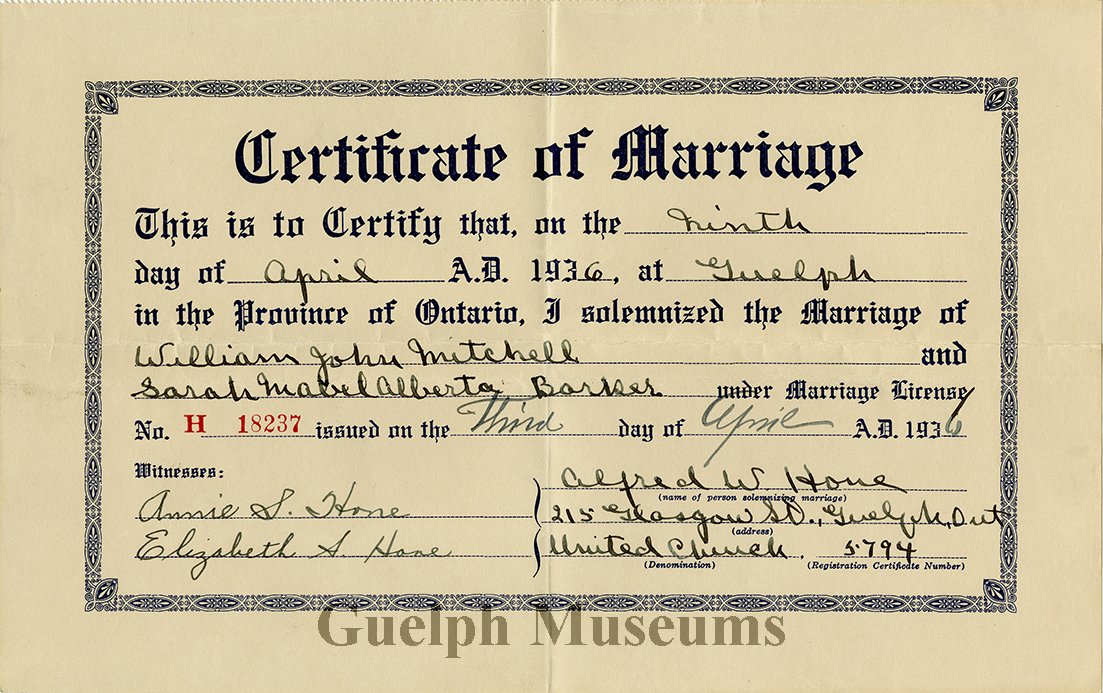 2016224 Certificate Marriage
