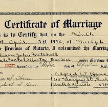 Image of 2016.22.4 - Certificate, Marriage