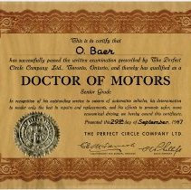Image of 1999.21.7 - Certificate