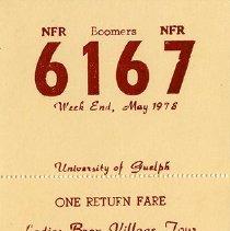 Image of 2016.52.2 - Ticket, Train