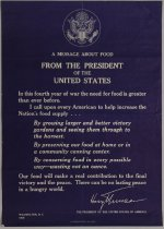Image of A Message About Food from the President of the United States - Poster, Political