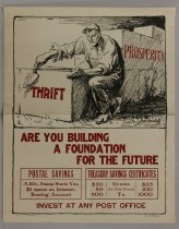 Image of Are You Building a Foundation for the Future: Invest at Any Post Office - Poster, Political