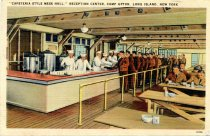"Image of ""Cafeteria Style Mess Hall"" Reception Center, Camp Upton, Long Island, New York - Postcard"
