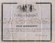 Image of Marriage Certificate, Henry B. Stryker and Wilhelmina Blydenburgh, 1857