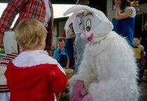 Image of Easter Bunny and Children, Mission Viejo