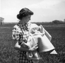 Image of Hoffman Heights Development, Harryette Nicholls with Baby