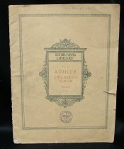 Image of Book of children's sheet music for the piano, book is in German, French, and English.  - Music, Sheet