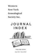 Image of Western New York Genealogical Society, Inc. Journal Index, Volume XXXIX, June 2012-March 2013 - Trinity Marketing