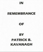 Image of In remembrance of - Self-Published