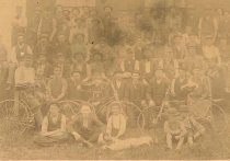 Image of Group photo with bicycles - 1974.02.0027