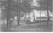 Image of Tents at Farringtons, Center Lovell, Me. 42 - 1974.02.0226