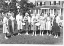 Image of Fashion Show Co-Ordinators for the Woman's Library Club, August 1962 - 1974.02.0261