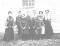 Image of Students at Schoolhouse No. 4 - 1986.01.0007