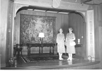 Image of Ruth Stanford and Madge Paisley at Eastman Hill - 1986.01.0097