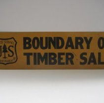 Image of Timber Sale Boundary Sign, Form 1503 - Sign
