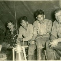 Image of Tree Planters in Tent After Work Day