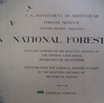 Image of U.S. Forest Service 1908 Map of the United States  - 2014.002.001a-d