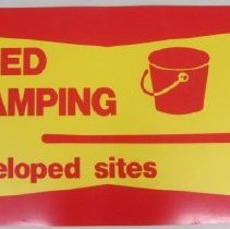 Image of Required for Camping on Undeveloped Sites - Poster, Instructional