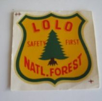 Image of Lolo National Forest Safety First Decal - Decal