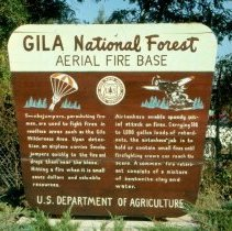 Image of Gila National Forest Aerial Fire Base Sign - 2013.026.047