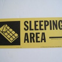 Image of Sleeping Area - Fire Camp Sign - Sign