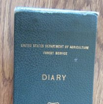 Image of USDA Forest Diary Binder  Circa 1955 - Notebook