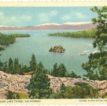 Image of Emerald Bay and Lake Tahoe, California - Postcard