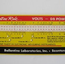 Image of Volts to Decibels and Ratio Conversions - Rule, Slide