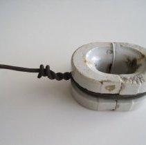 Image of Split Ring White Procelian Telephone Insulator - Insulator