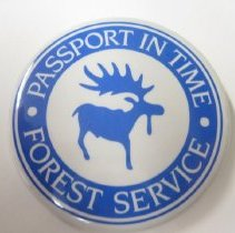 Image of Passport In Time, Forest Service Button - Button, Promotional