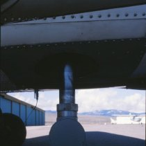 Image of Exterior of Cessna airplane with camera.