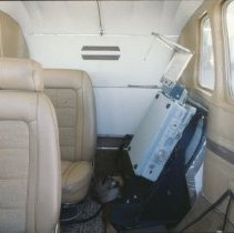 Image of Interior of Cessna airplane - 2007.031.095j