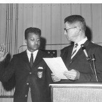 Image of USDA Agriculture Secretary Orville Freeman Administer Oath