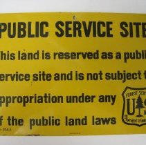 Image of Forest Service Land Closure Sign - Sign
