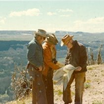 Image of Greib, Smith and Andrus - Flattops Wilderness Interagency Pack Trip - 2004.057.258