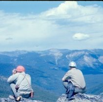 Image of Two Men Atop Red Mountain - 2005.051.052