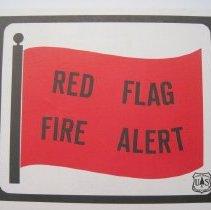 Image of Red Flag Fire Alert - Sign