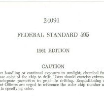 Image of Federal Standard Color Specifications  - Specification