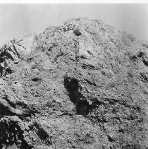 Image of Outcrop of rock in Longwater Gulch Twisted and contorted Mesa. Pike National Forest. - 1990.001.052.070
