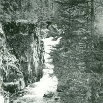 Image of Upper Falls, Black Cr. from trail. 6-29-37 - 1990.001.053.002
