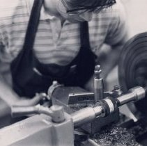 Image of Machine shop class at the Area Career Center (restored)