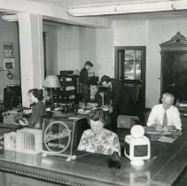 Image of Beckman Supply Co. office and staff, 1940s (original)