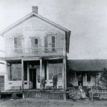 Image of Mr. Hess at the first Post Office in Hammond - Photograph Collection