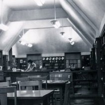 Image of Interior view of Hansen Branch reading area - Photograph Collection